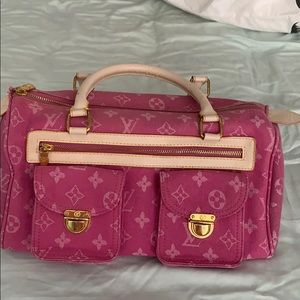 Pink Louis Vuitton handbag